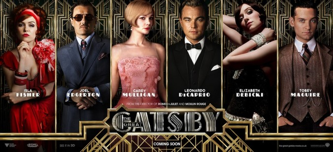 From left to right, the characters are Myrtle Wilson, Tom Buchanan, Daisy, Gatsby, Jordan Baker and Nick Carraway.