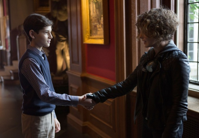 David Mazouz and Camren Bicondova star as Bruce Wayne and Selena Kyle in Fox's Gotham.