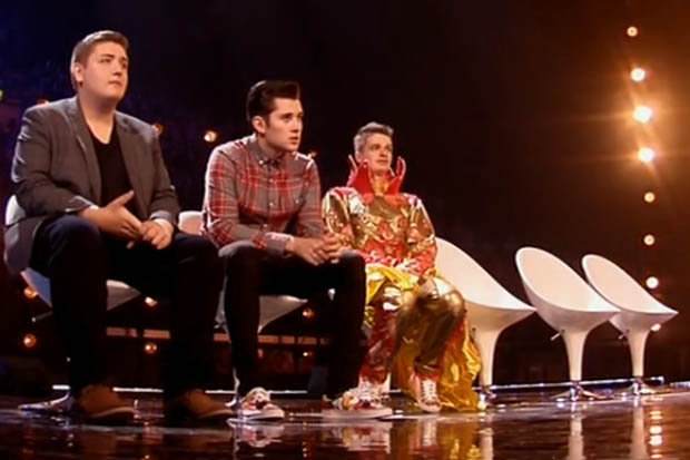 The boys  X-Factor 2015 Six Chair Challenge.