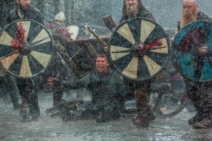 Alex Høgh's Ivar taunts the Saxon army at the Battle of York in season 5 episode 3 of History's Vikings.